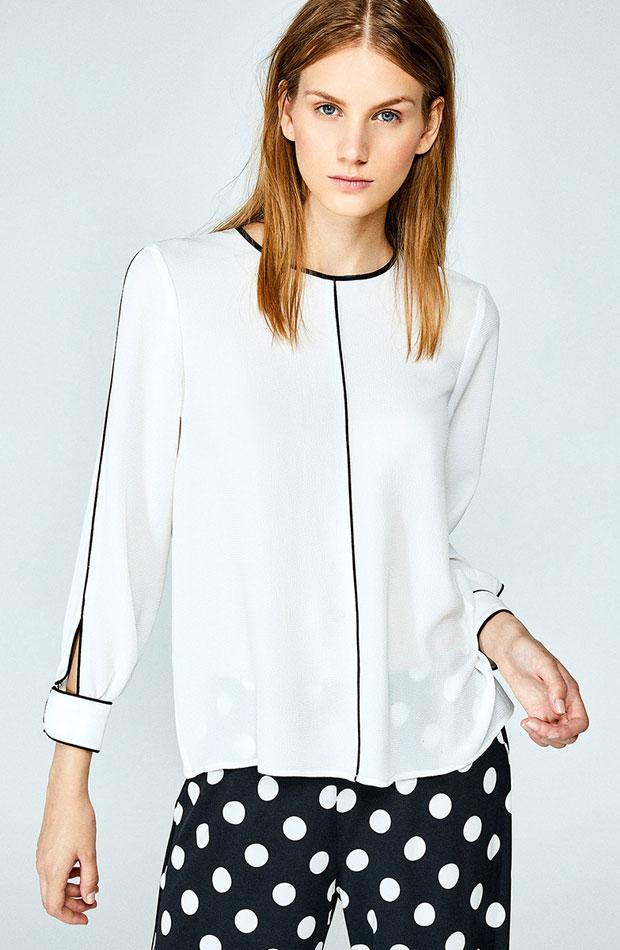Blusa estilo pijama de Sfera: prendas volver rutina
