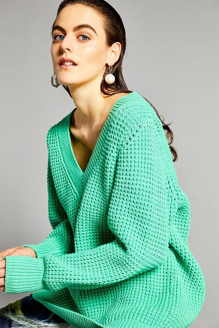 Jersey pico en verde menta de Sfera Online