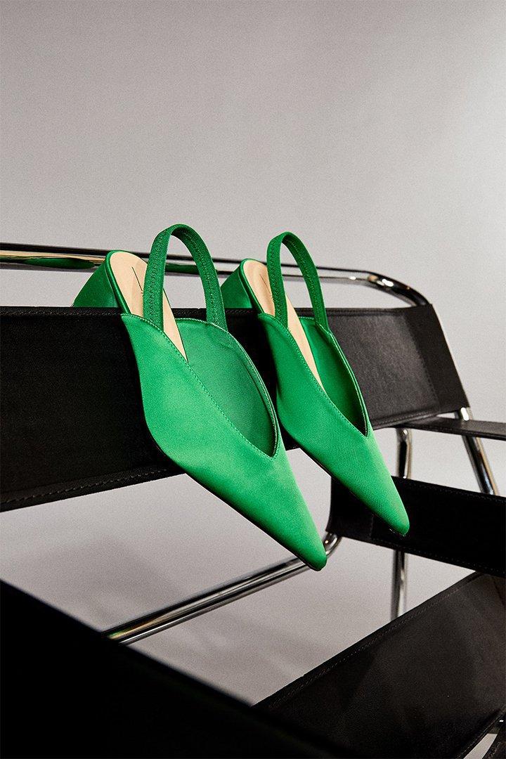 Zapatos destalonados efecto raso de Sfera Online