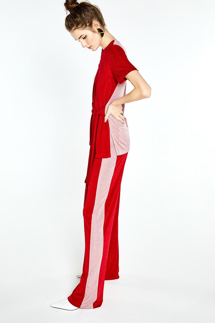 Pantalón amplio con franja a contraste de Sfera Online