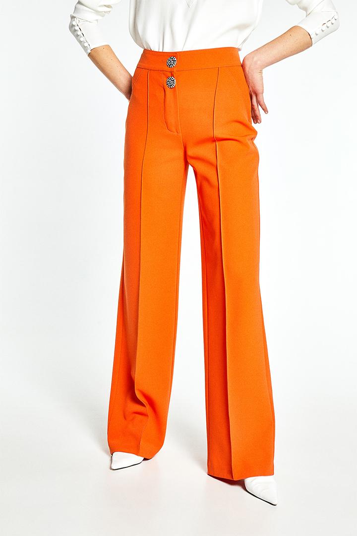 Pantalón ancho naranja de Sfera Online