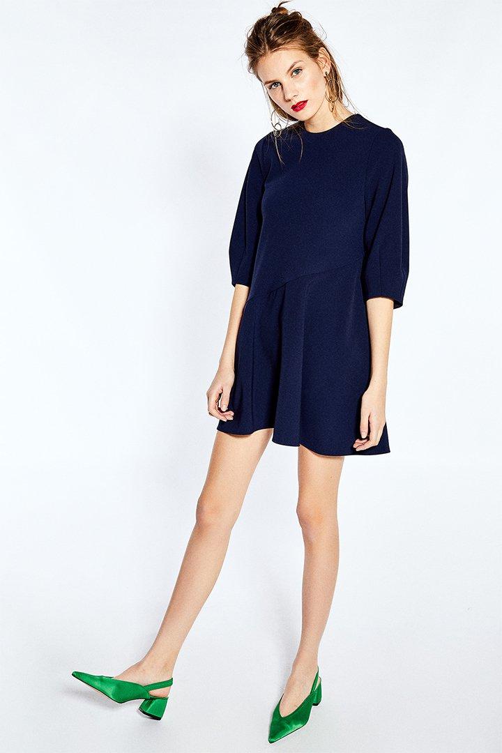 Vestido corto azul de Sfera Online