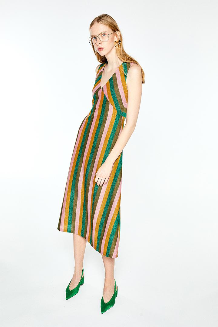Vestido combinado con lúrex de Sfera Online