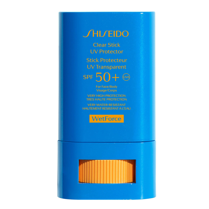 Clear Stick UV SPF 50+ de Shiseido: productos cesta beauty del verano