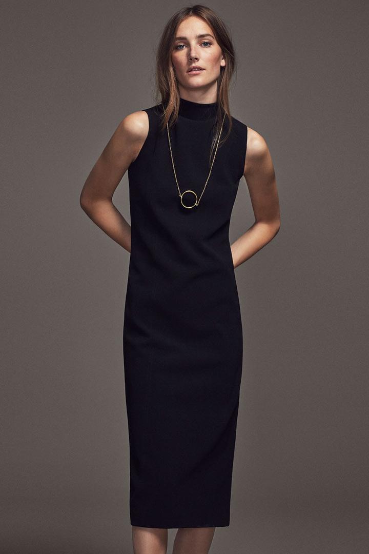 Vestido negro massimo dutti 2018