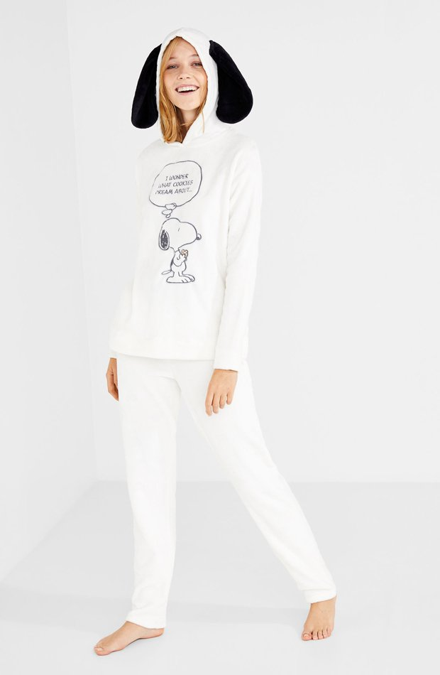 Pijama de Snoopy de Women Secret: pijamas