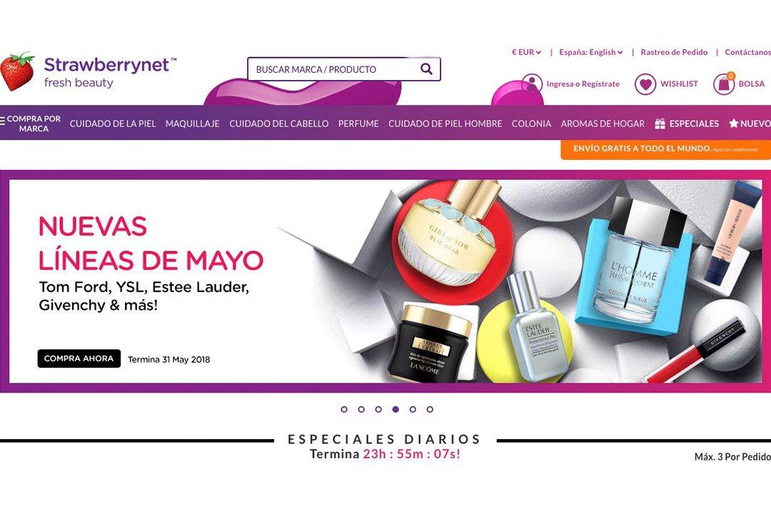 Strawberrynet: mejores tiendas online de belleza
