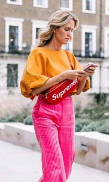 street style color block