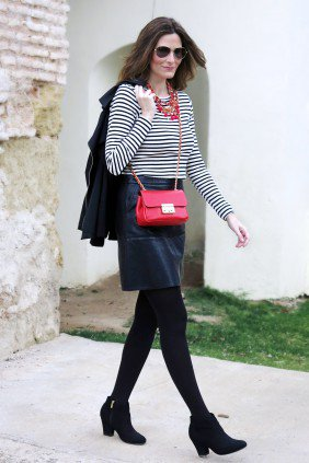 Con Paso Chic, stripes and leather