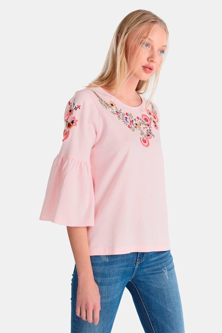 Sudadera con bordados en tonos pastel de Easy Wear