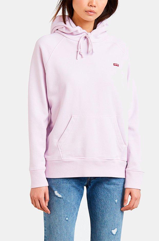 Sudadera con capucha en color lila