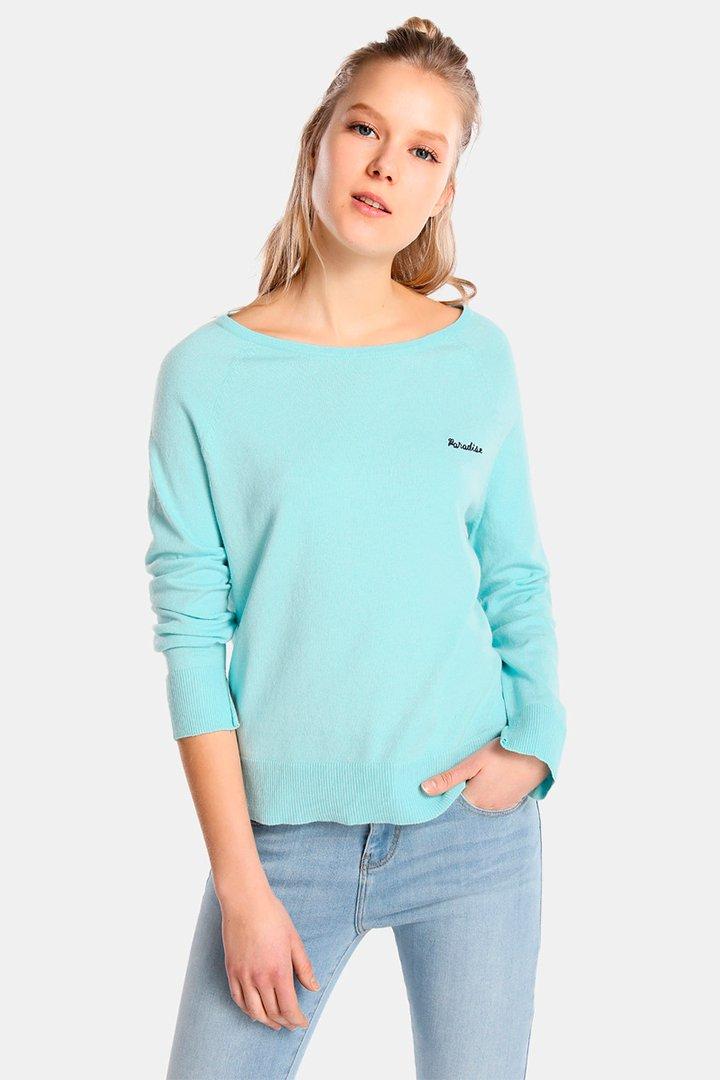 Jersey de Easy Wear liso con texto bordado en tonos pastel