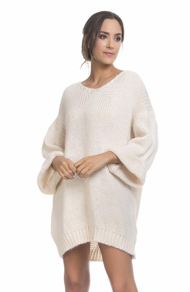 Vestido de punto con cuello en V de Tantra: vestidos primavera 2019