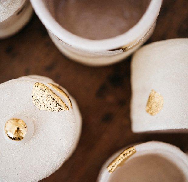 Vasos dorados Somos Bonjour