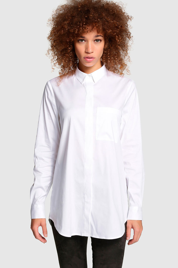 camisa blanca oversize de el corte inglés