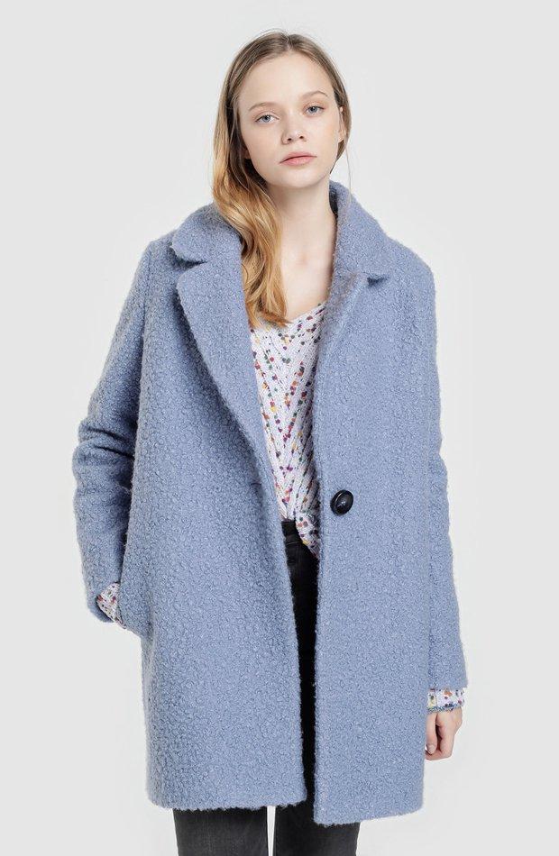 Abrigo azul de baguilla de Tintoretto: abrigos tendencia