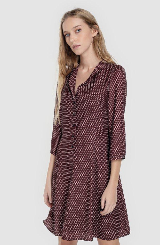Vestido camisero estampado de Tintoretto: prenda invierno vestidos