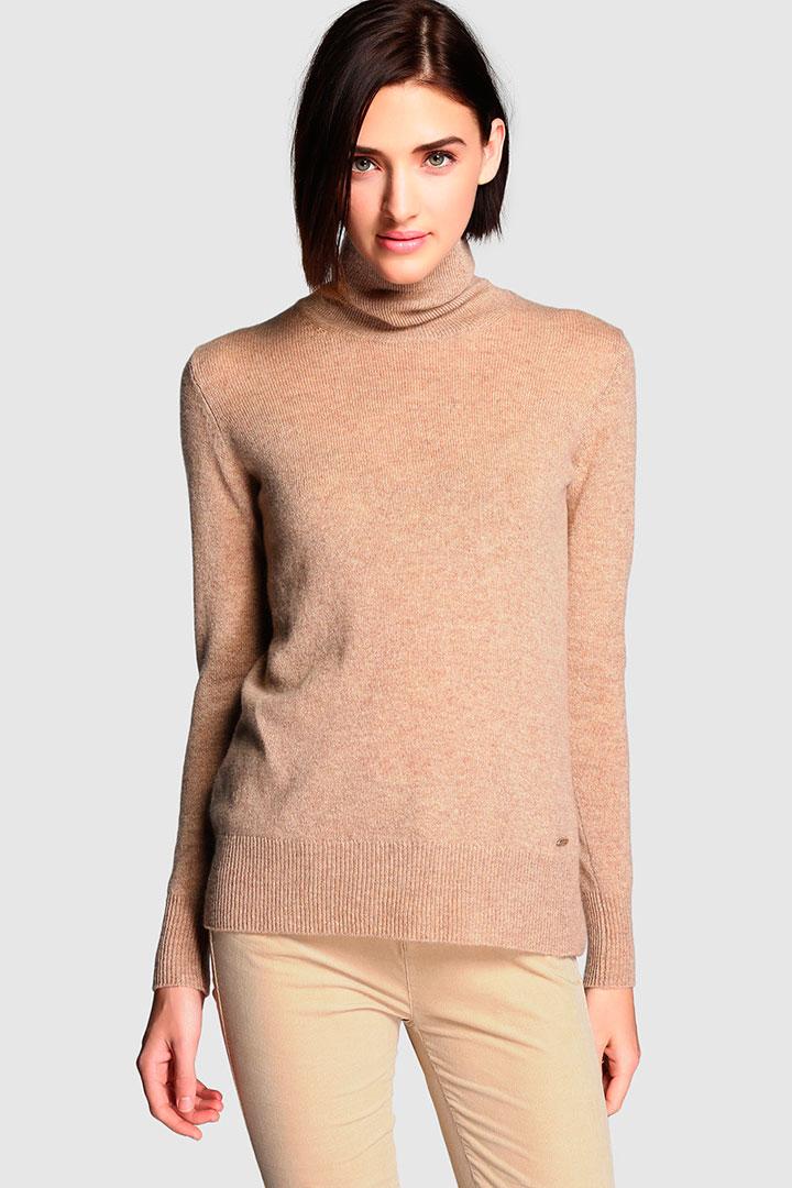 jersey de cashmere marrón de el corte inglés