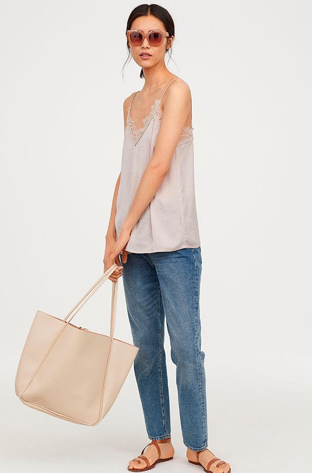 Top lencero beige de H&M