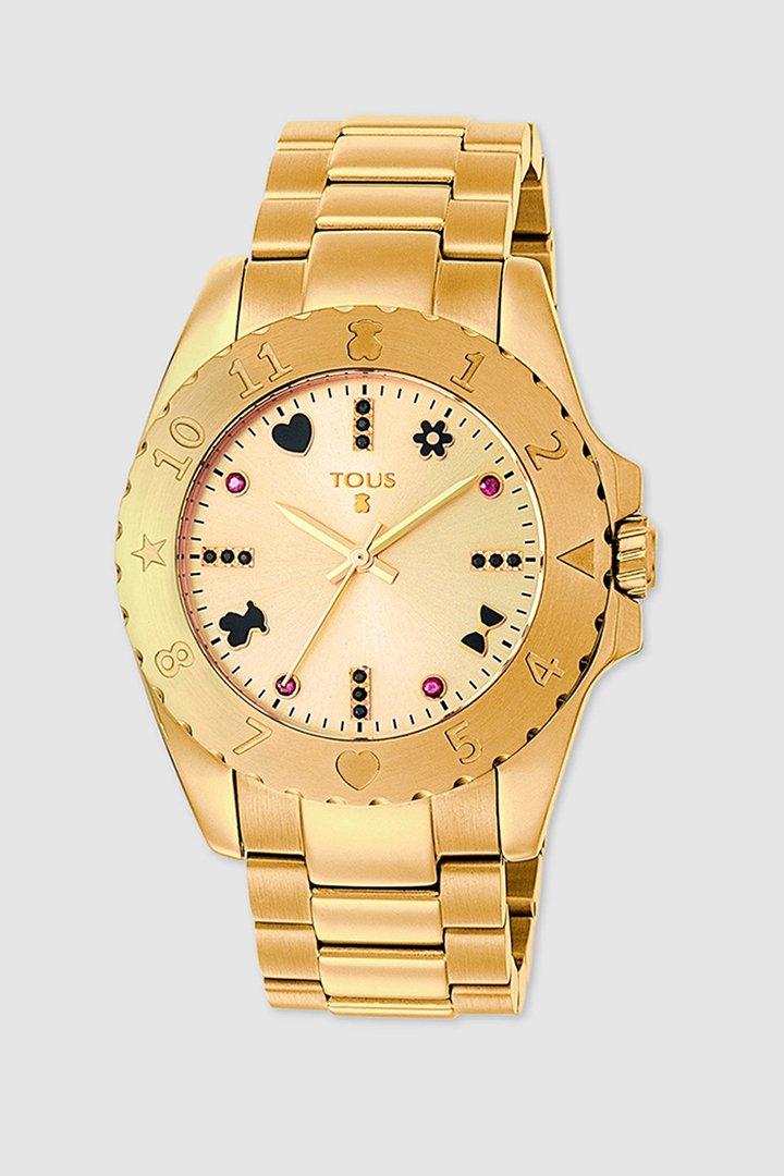 reloj dorado de tous en el corte inglés