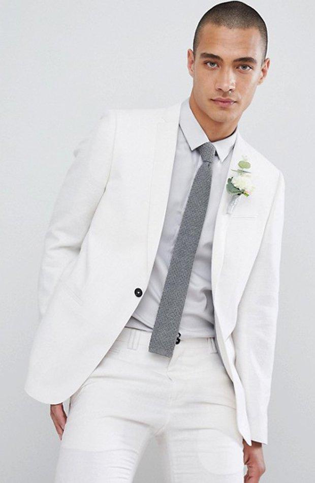 Chaqueta de traje ajustada de Noak de Asos: tendencias masculinas 2019