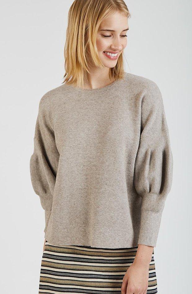 Jersey de punto en color beige de Trucco: jerséis otoño invierno 2018