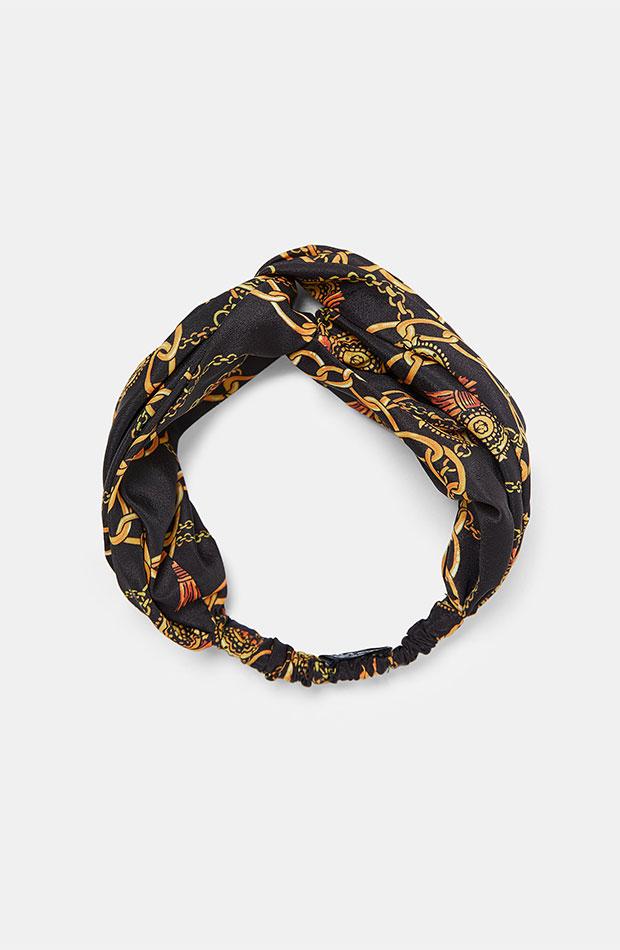 Turbante de estampado pañuelo de Zara