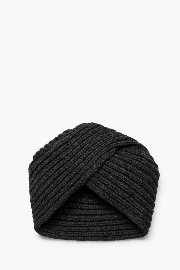 Turbante de punto color negro mango