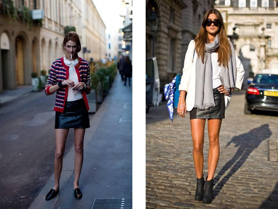 Minifalda negra en la plaza comercial - 2 7