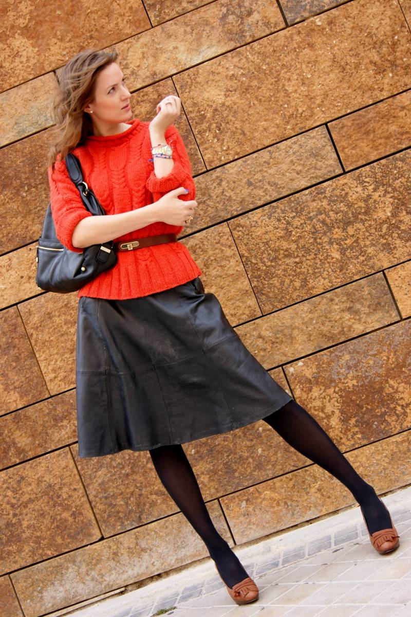 Vintage leather skirt-39391-lisovin