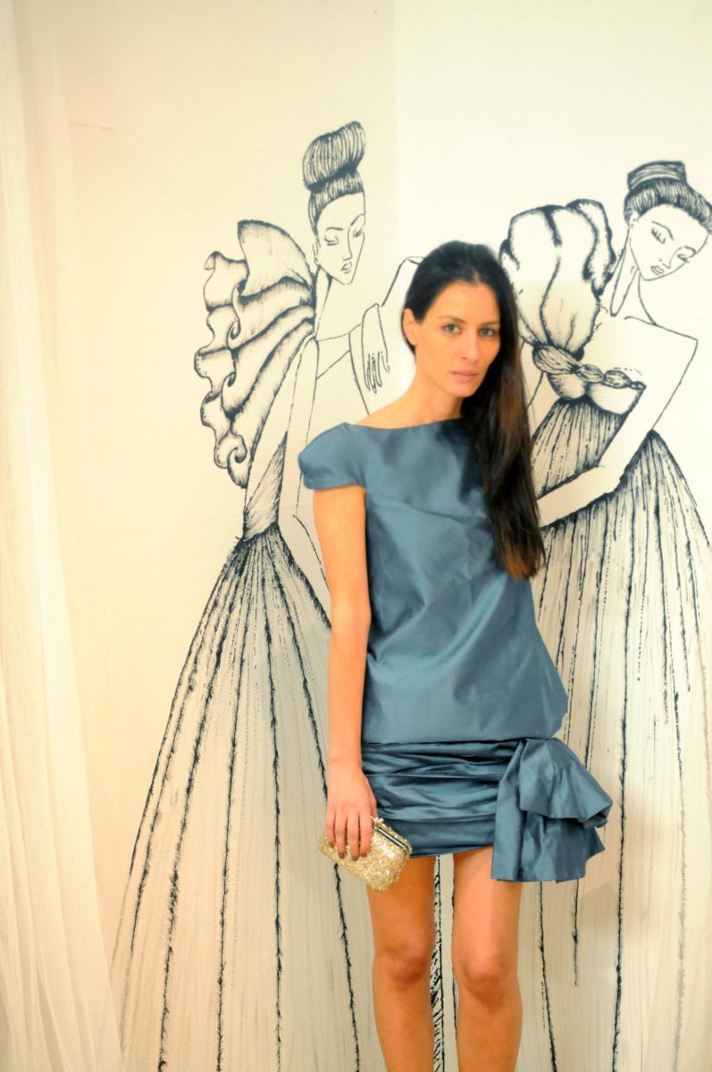 Boüret vestido azul