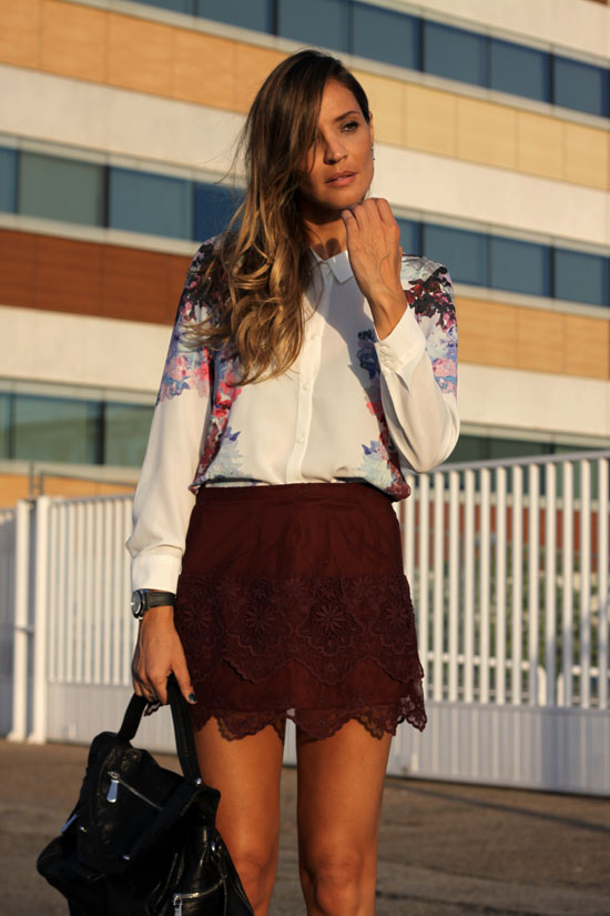 floral blouse and lace – lady addict
