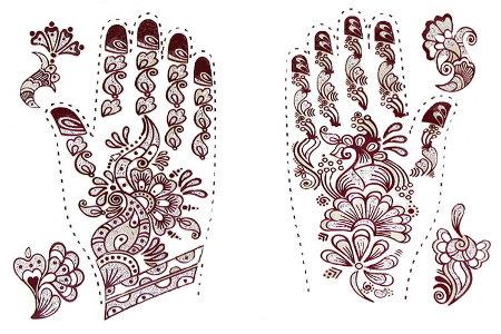 Único Diseño De Henna Para Colorear Composición - Ideas Para ...