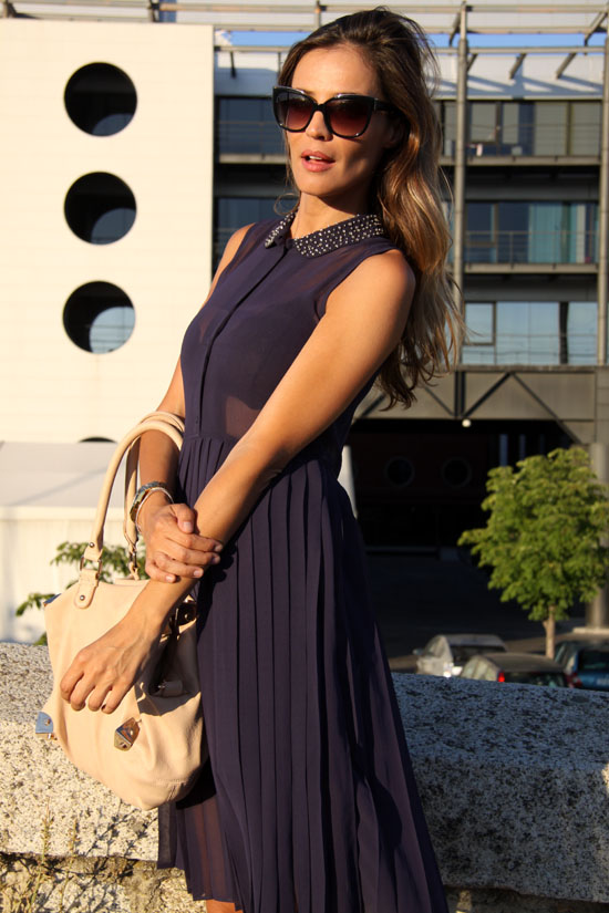 navy blue dress – lady addict