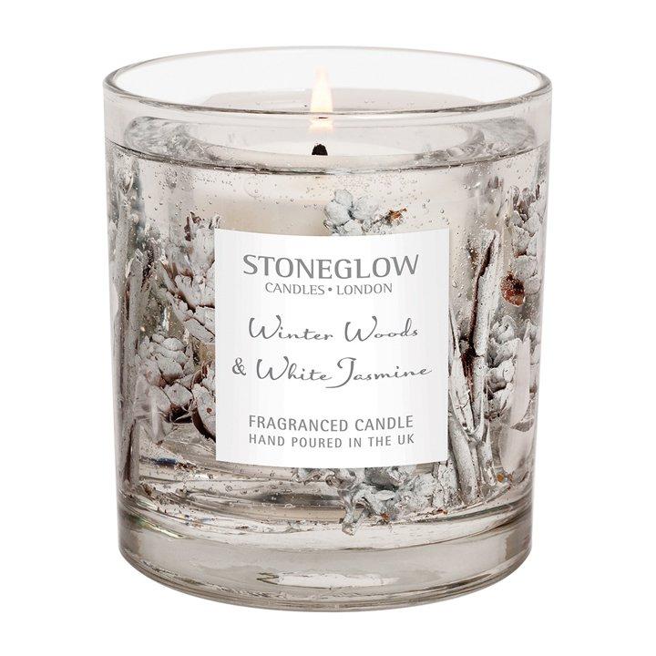Vela de invierno y jazmín blanco de Stoneglow: regalos amigo invisible