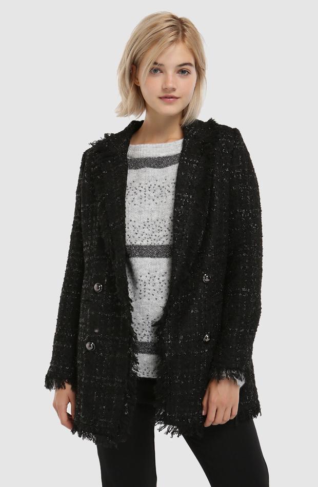 Abrigo de tweed con lurex de Vero Moda: abrigos tendencia