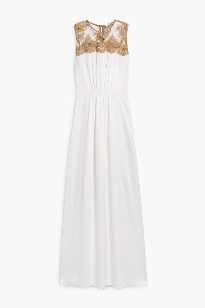 2c1577a78f Vestido blanco con detalle de encaje