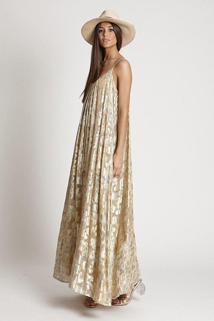 Vestido dorado de Zaitegui