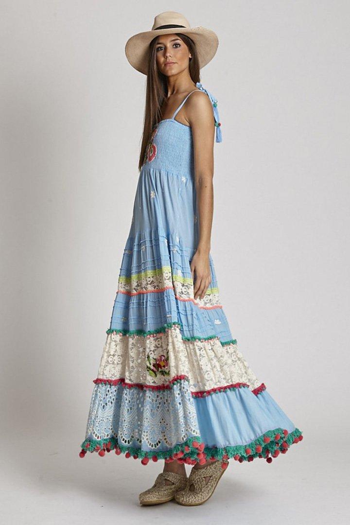 Vestido celeste de Zaitegui