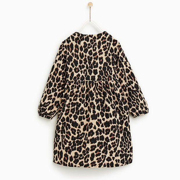 Vestido de leopardo de Zara Kids invierno 2018