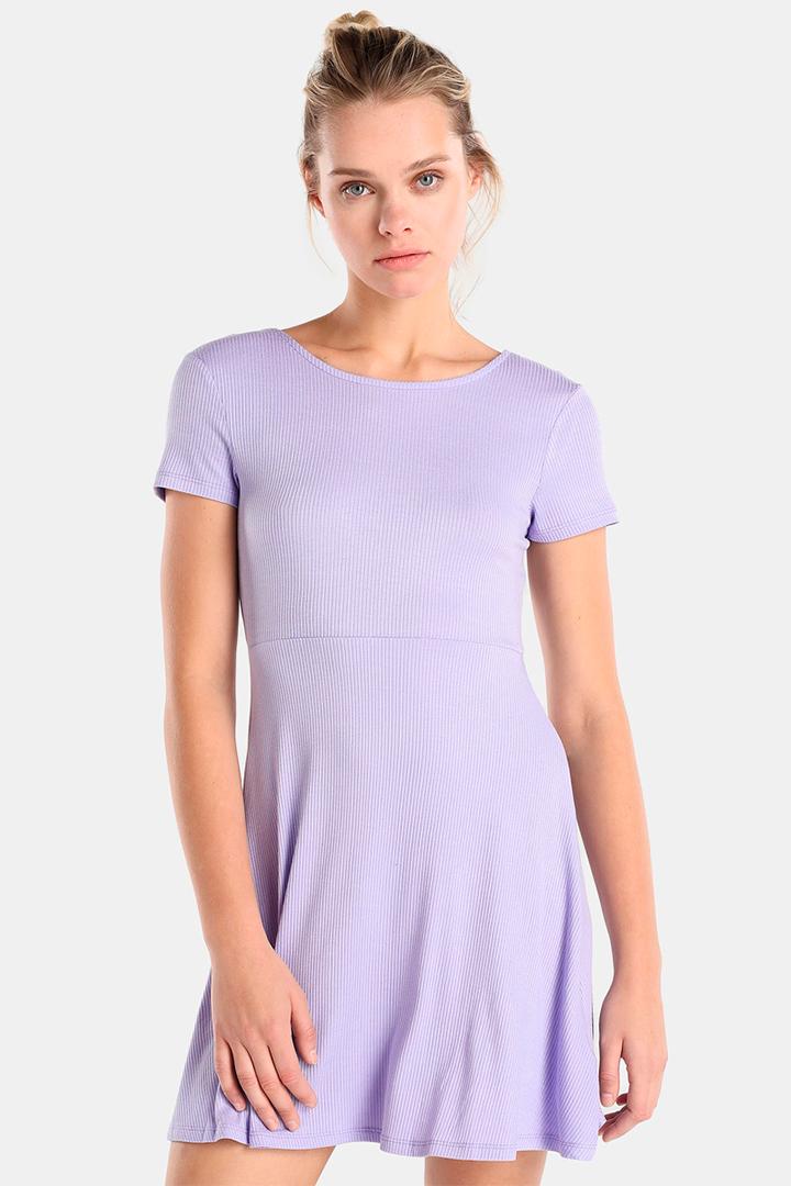 Vestido de canalé en tonos pastel de Easy Wear
