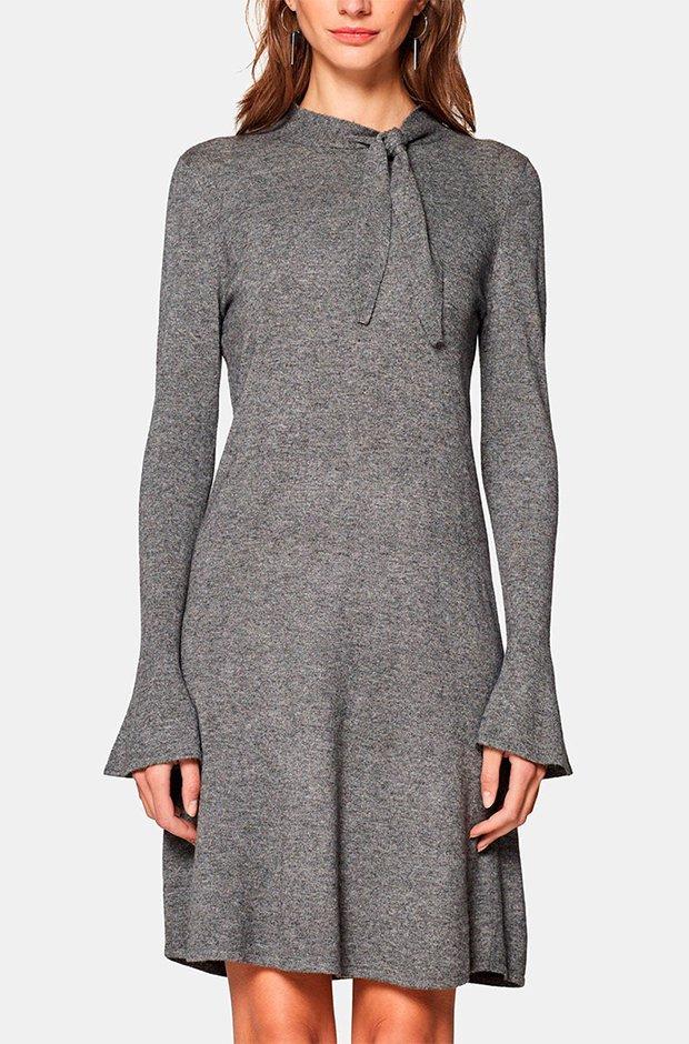 Vestido gris de Esprit de Punto