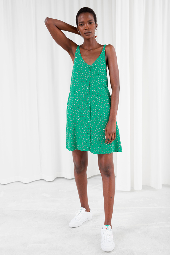 Vestido verde de And Other Stories verano 2018