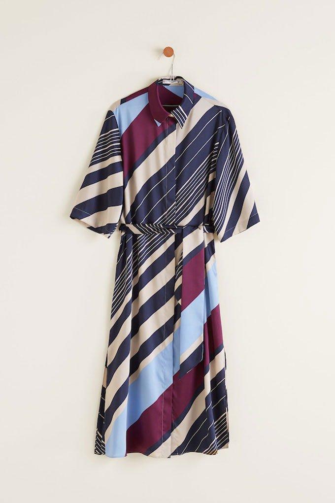 Vestido de verano versátil con estampado de rayas