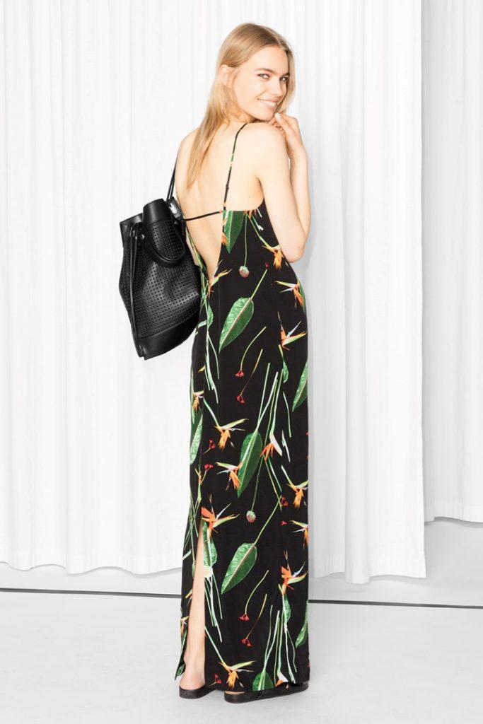 Vestidos con la espalda al aire de estampado floral