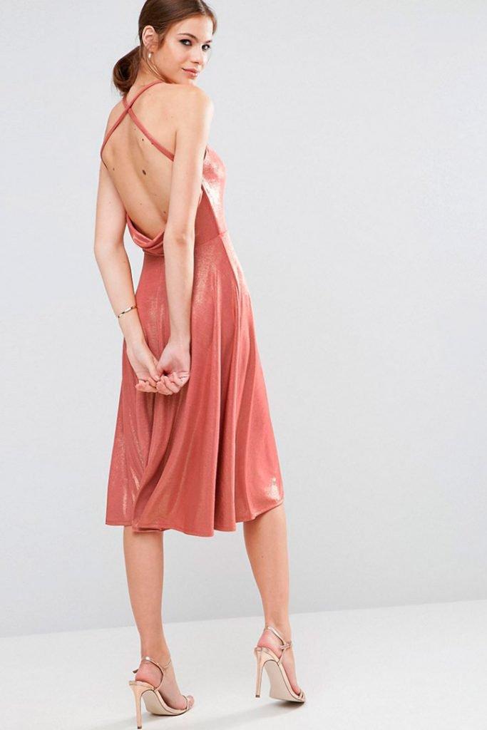 Vestidos con la espalda al aire en rosa