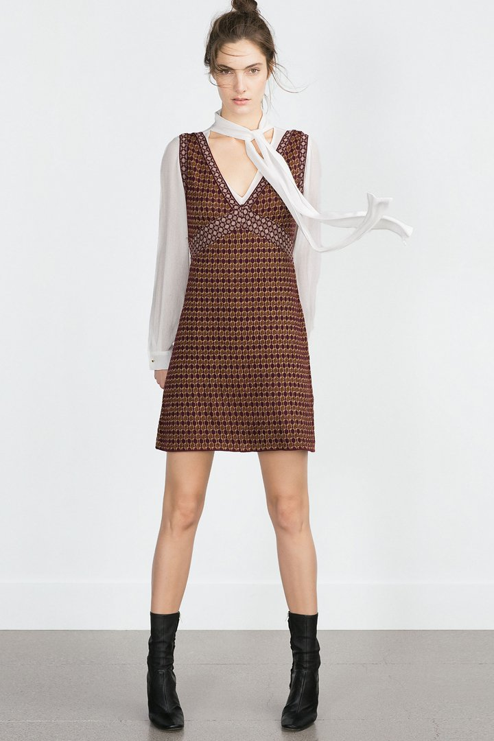 Vestido microjacquard punto