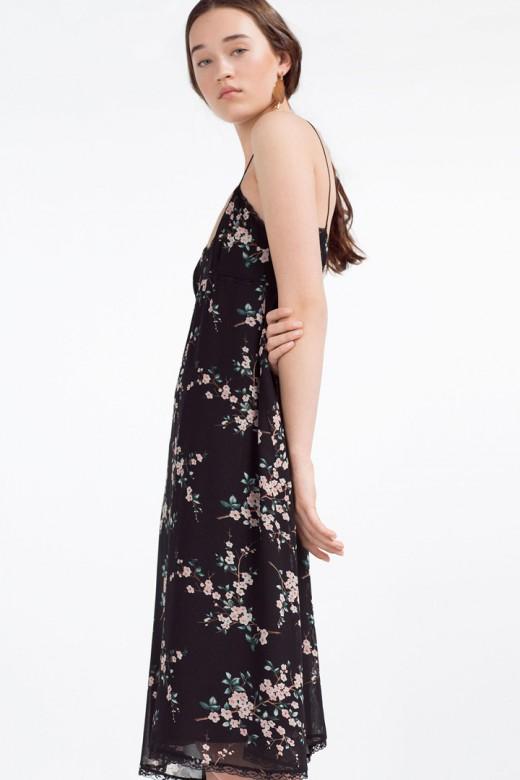 Vestido lencero de flores