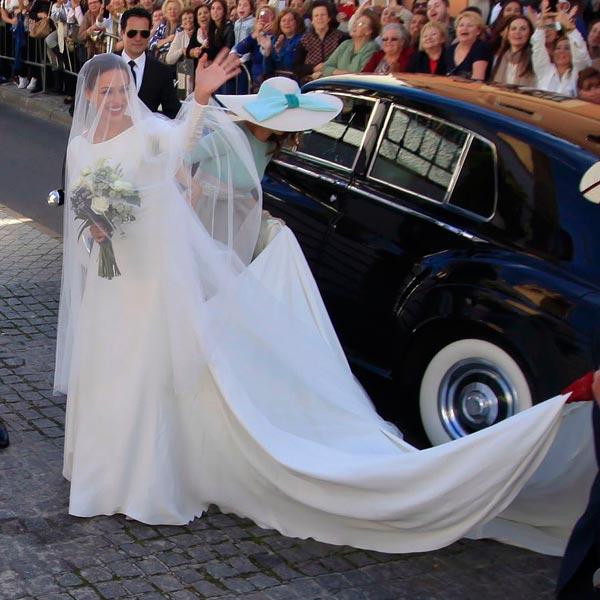 Eva González vestida de novia por Atelier Pronovias