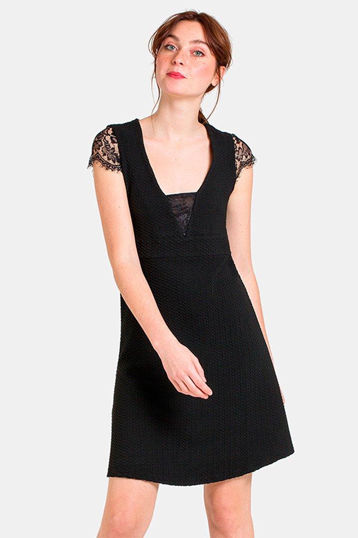 Vestido de graduación negro